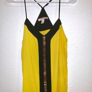 Forever21 Yellow Spaghetti Strap Business Shirt